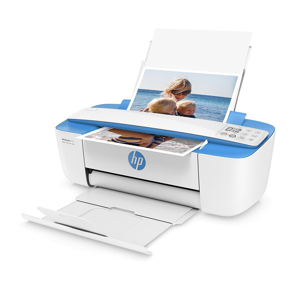 HP DeskJet 3755 Compact All-in-One Photo Printer, Blue ...